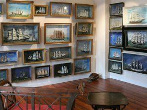Windjammer-Museum: Halbmodell-Dioramen im Obergeschoss