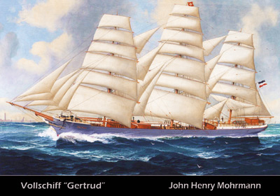 "Postkarte Vollschiff ""Gertrud"""