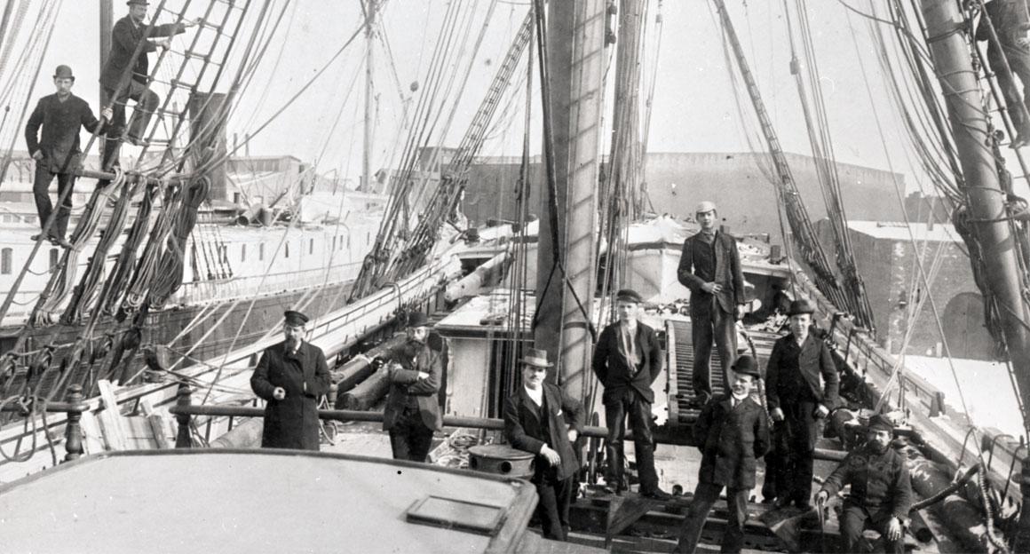 """Mannschaft der """"Roland"""" 1895"""