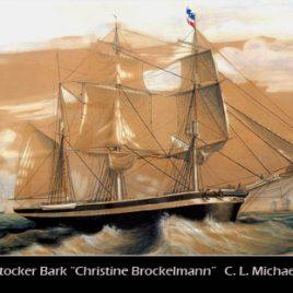 Postkarte CHRISTINE BROCKELMANN von Rostock