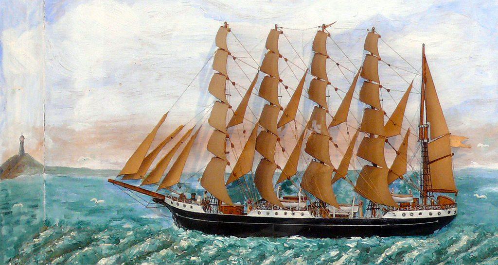 KØBENHAVN - Seemannsarbeit im Windjammer-Museum